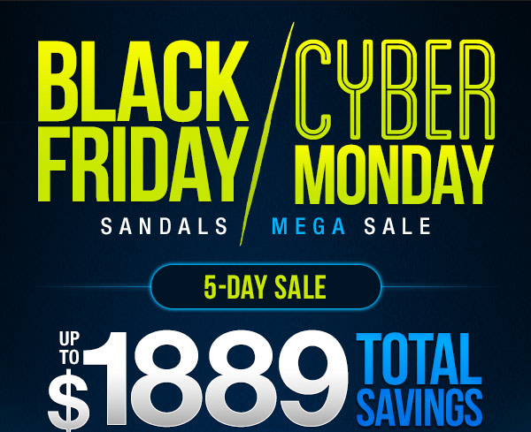 fad98c7ee372a3 Black Friday Cyber Monday 5-Day Sale! Sandals Best Deals Ever plus a ...