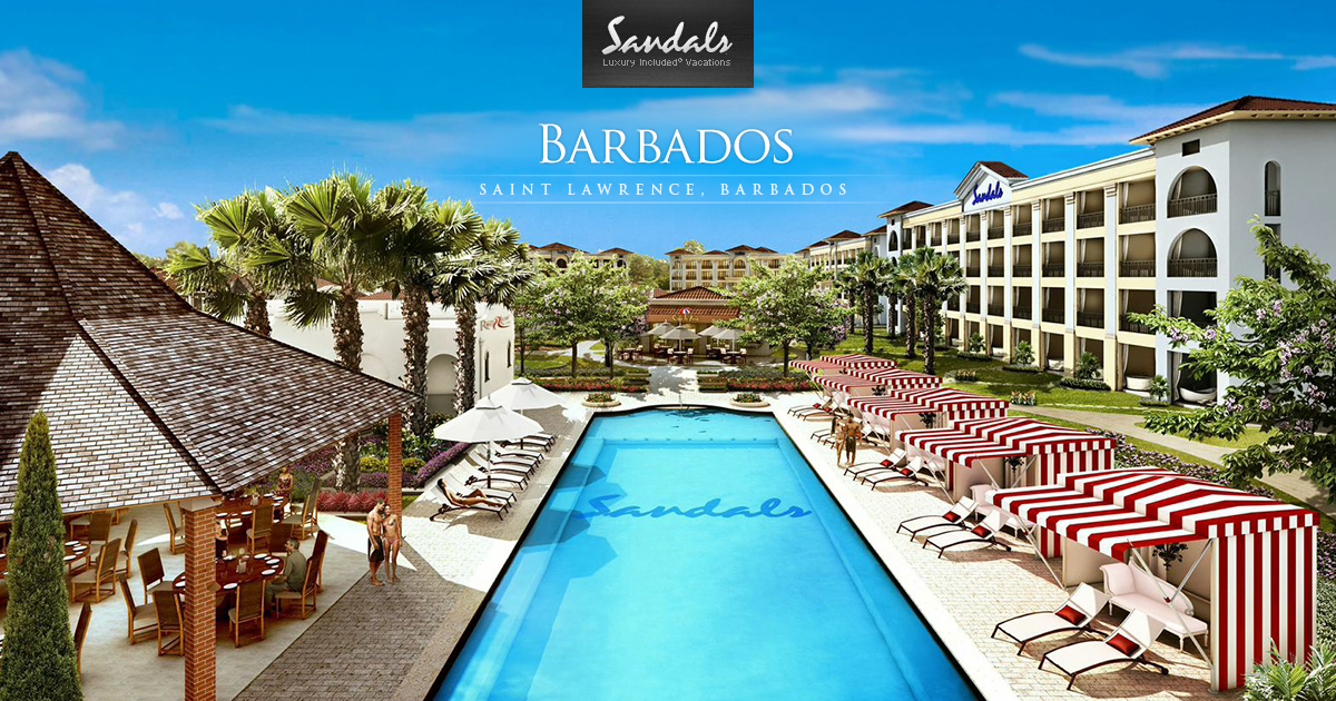 Sandals Barbados All Inclusive Barbados Resort Vacation