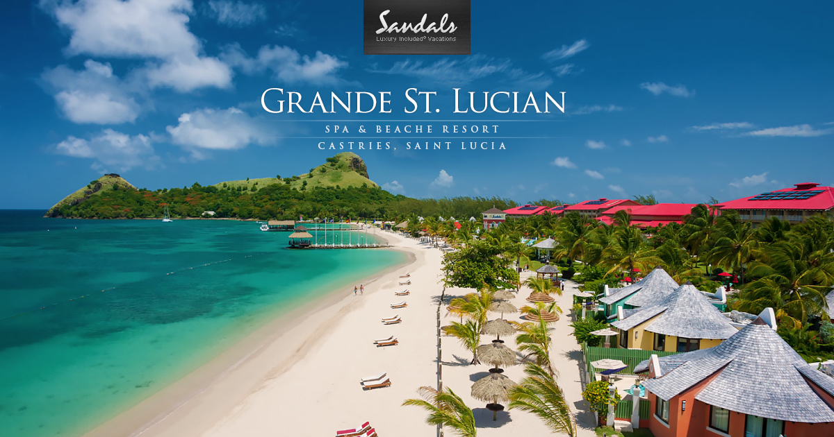 Presidential Beachfront Suites At Grande St Lucian Sandals