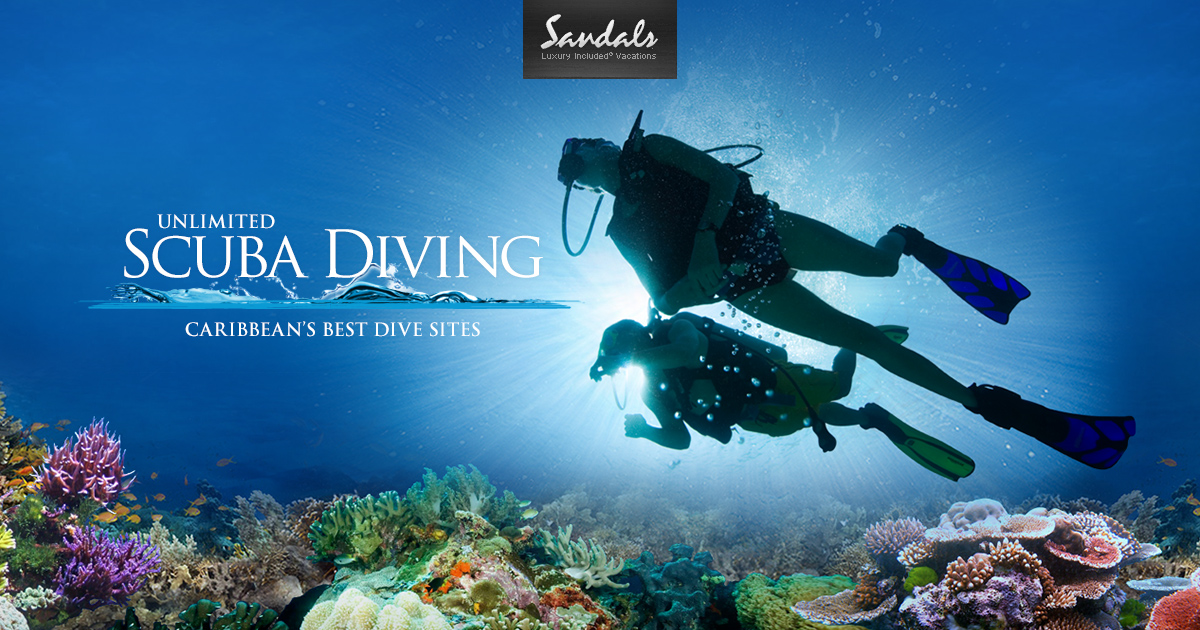 All inclusive scuba the best scuba diving vacations are at sandals resorts in the caribbean - Best dive trips ...